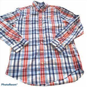 Vineyard Vines slim fit whale shirt plaid red blue